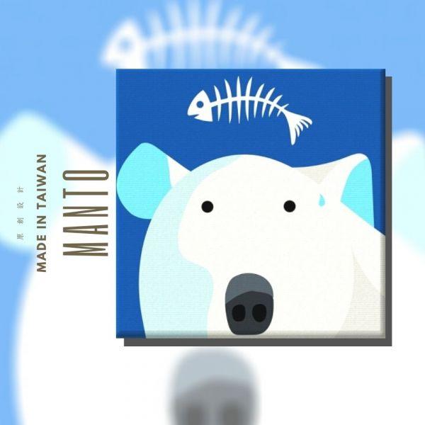 北極熊【現貨】 MANTO創意數字油畫(2020) 北極熊,簡單,數字油畫,manto,台灣數字油畫,數字油畫批發,數字油畫團購
