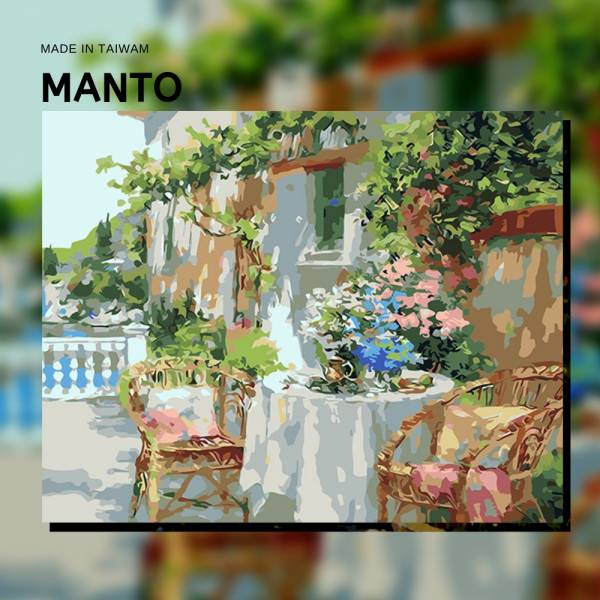 花園下午茶|MANTO創意數字油畫(4050) 花園,風景畫,數字油畫,manto,數字畫