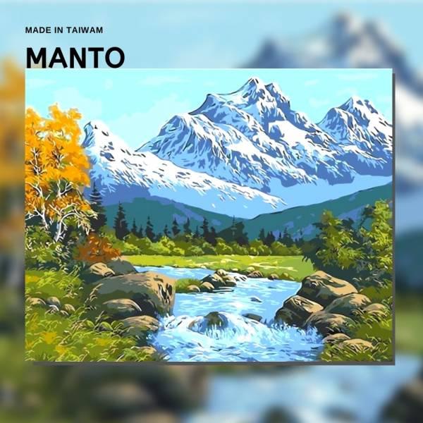 雪山映湖|MANTO創意數字油畫(4050M) 加拿大,風景畫,數字油畫,manto,台灣數字油畫,數字油畫批發,倫敦