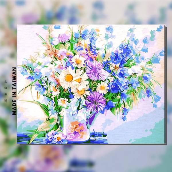珠翠圍繞 |MANTO創意數字油畫(4050M) 盆花,花田,數字油畫,manto,台灣數字油畫,數字油畫批發,數字油畫團購