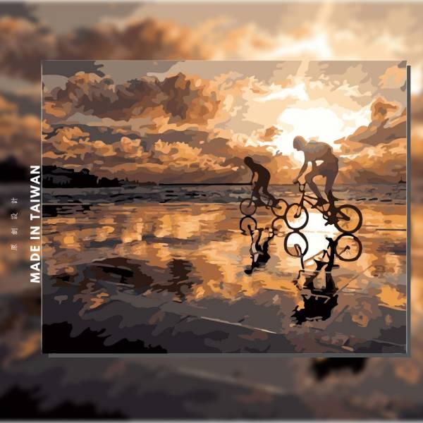 追夢 |MANTO創意數字油畫(4050M) 追夢,自行車,數字油畫,manto,台灣數字油畫,數字油畫批發,數字油畫團購