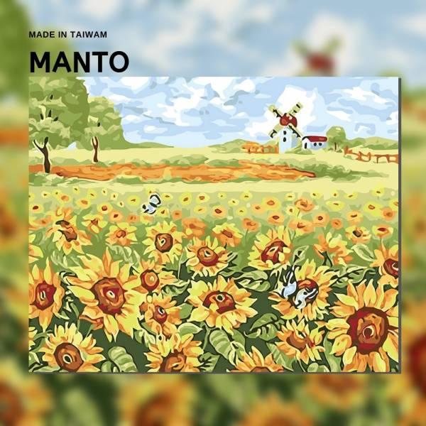 向日葵-風車|MANTO創意數字油畫(4050M) 風車,風景畫,數字油畫,manto,台灣數字油畫,數字油畫批發,倫敦