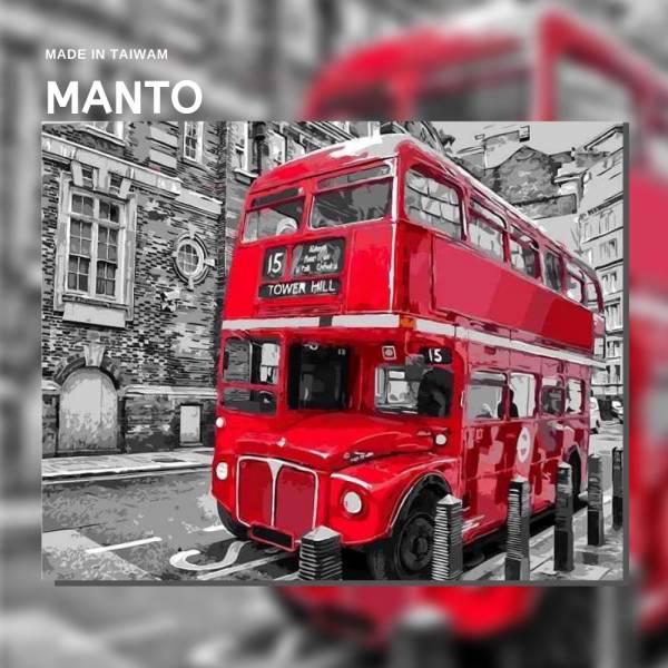 倫敦巴士|MANTO創意數字油畫(4050M) 倫敦巴士,風景畫,數字油畫,manto,台灣數字油畫,數字油畫批發,倫敦