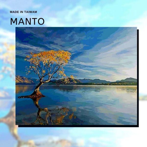 天水一方(天空之鏡)【34色高手挑戰款】 MANTO創意數字油畫(4050) 天空之鏡,風景畫,數字油畫,manto,數字畫