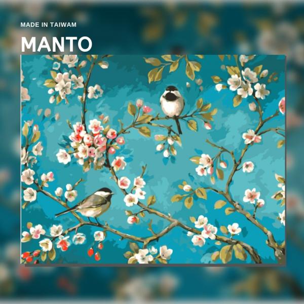 喜上眉稍【現貨】 MANTO創意數字油畫(4050M) 花鳥,名畫,數字油畫,manto,台灣數字油畫,數字油畫批發,倫敦