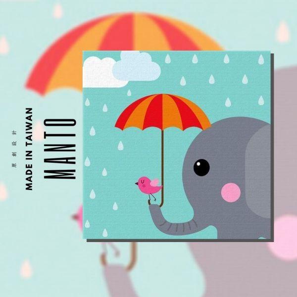 大象嘻遊趣【現貨】|MANTO創意數字油畫(3030) 象,小鳥,數字油畫,manto,台灣數字油畫,數字油畫批發,數字油畫團購
