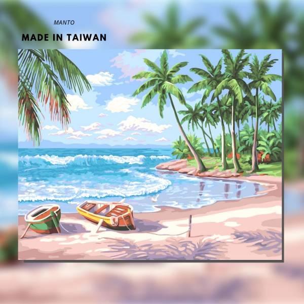海闊天空 MANTO創意數字油畫(4050) 海景,數字油畫,manto,台灣數字油畫,數字油畫批發,數字油畫團購