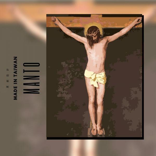 耶穌受難圖|MANTO創意數字油畫(4050M) 耶穌受難圖,數字油畫,manto,數字畫
