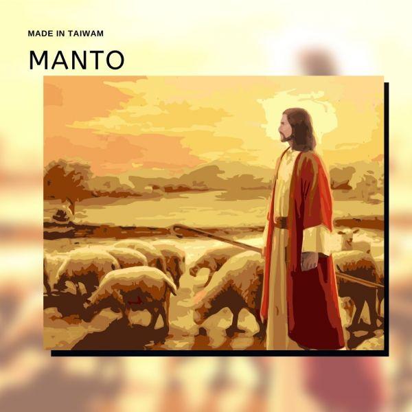 耶穌善牧圖|MANTO創意數字油畫(4050M) 耶穌善牧圖,數字油畫,manto,數字畫