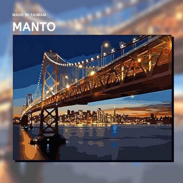 舊金山大橋|MANTO創意數字油畫(4050M) 舊金山大橋,風景畫,數字油畫,manto,數字畫