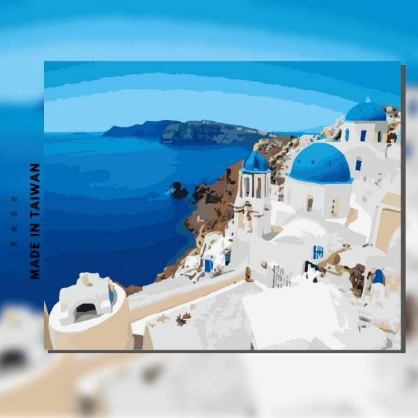 藍色愛琴海|MANTO創意數字油畫(4050M) 地中海,希臘,數字油畫,manto,台灣數字油畫,數字油畫批發,數字油畫團購