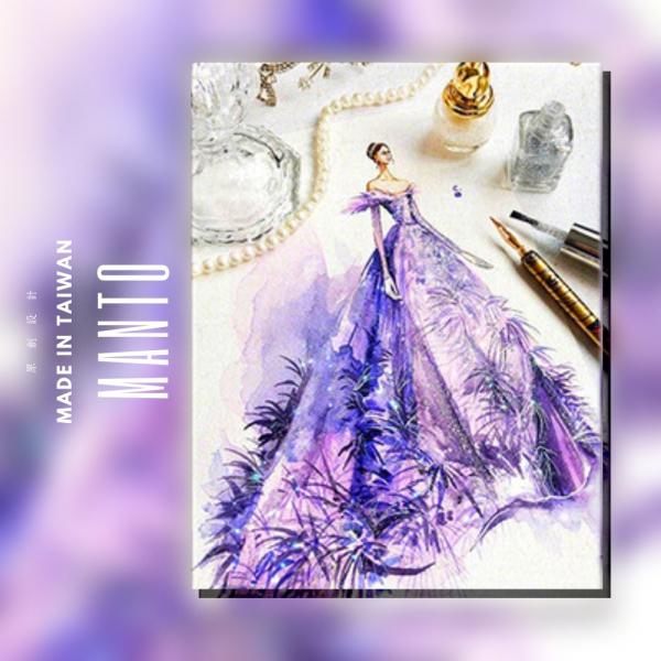紫色風華|MANTO創意數字油畫(4050M) 紫色風華,數字油畫,manto,台灣數字油畫,數字油畫批發,倫敦