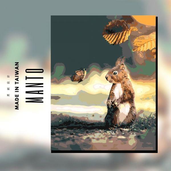萌萌松鼠 MANTO創意數字油畫(4050) 松鼠,數字油畫,manto,數字畫
