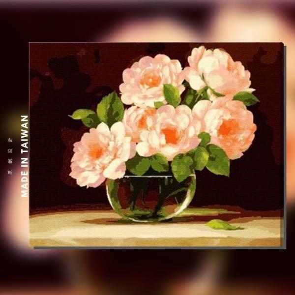 紅粉香露 |MANTO創意數字油畫(4050M) 花卉,花田,數字油畫,manto,台灣數字油畫,數字油畫批發,數字油畫團購