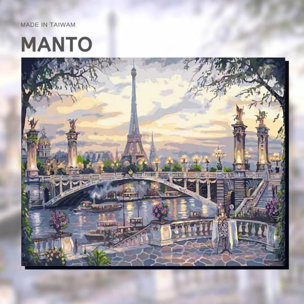 法國塞納河畔|MANTO創意數字油畫(4050M) 法國,風景畫,數字油畫,manto,數字畫