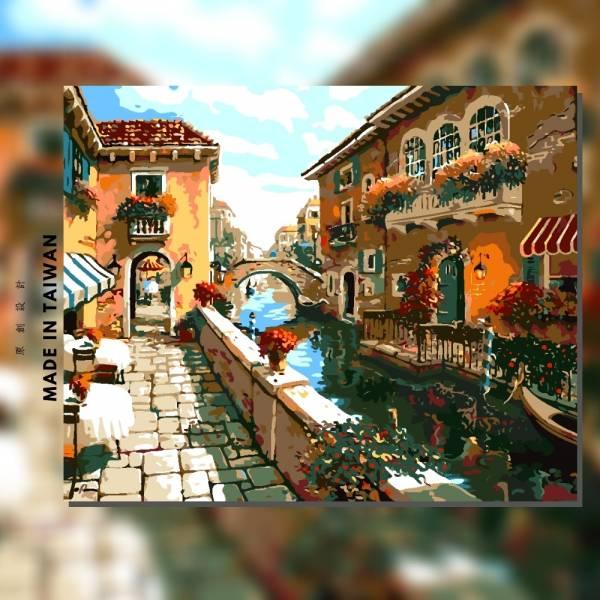 漂浮之城 |MANTO創意數字油畫(4050M) 風景畫,鄉村風,數字油畫,manto,台灣數字油畫,數字油畫批發,數字油畫團購