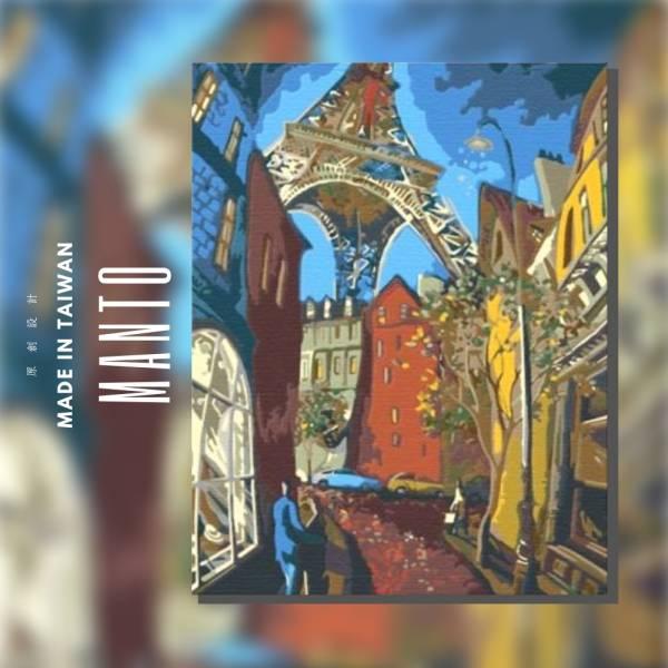 巴黎狂想曲|MANTO創意數字油畫(4050) 巴黎,抽象畫,狂野,數字油畫,manto,台灣數字油畫,數字油畫批發,數字油畫團購