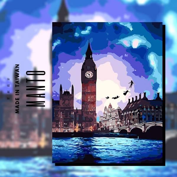 奇幻倫敦|MANTO創意數字油畫(4050M) 花,風景畫,數字油畫,manto,數字畫