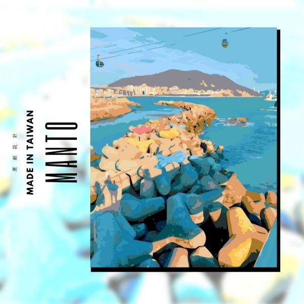 松島天空步道 MANTO創意數字油畫(4050) 松島,風景畫,數字油畫,manto,數字畫