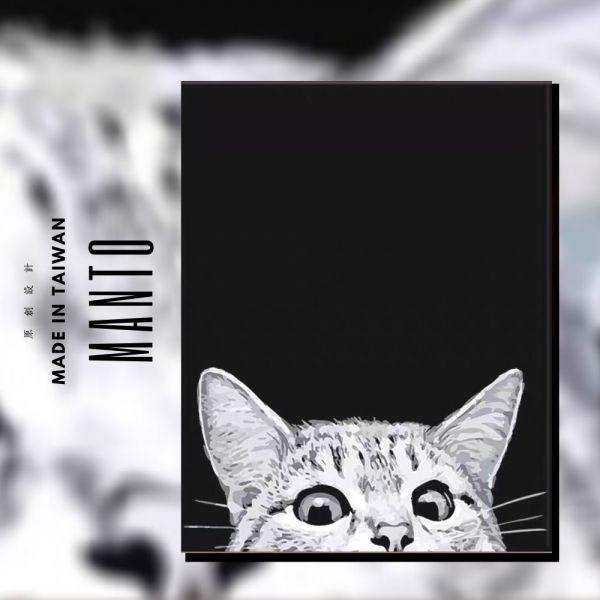 Hello!貓咪【現貨】|MANTO創意數字油畫(4050M) 貓咪,風景畫,數字油畫,manto,數字畫