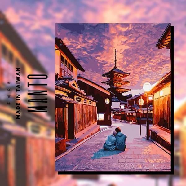 愛在京都|MANTO創意數字油畫(4050) 京都,風景畫,數字油畫,manto,數字畫