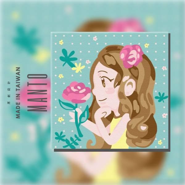 玫瑰女孩-Ring Ring 聯名款|MANTO創意數字油畫(2020) Ring Ring,插畫家,數字油畫,manto,台灣數字油畫,數字油畫批發,數字油畫團購