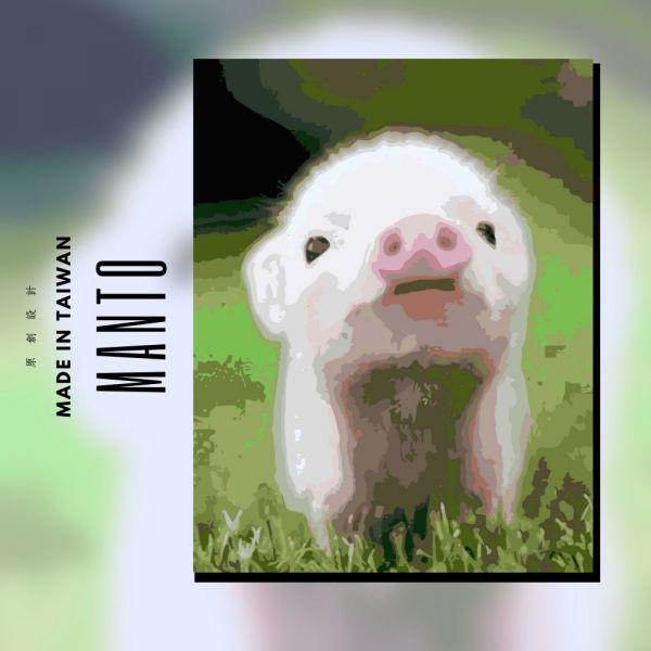 小萌豬|MANTO創意數字油畫(4050M) 豬,風景畫,數字油畫,manto,數字畫