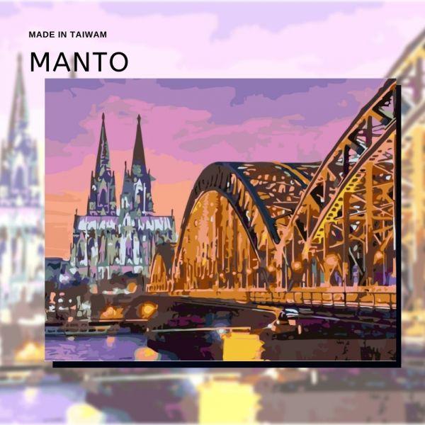 科隆夜色 MANTO創意數字油畫(4050) 德國,風景畫,數字油畫,manto,數字畫