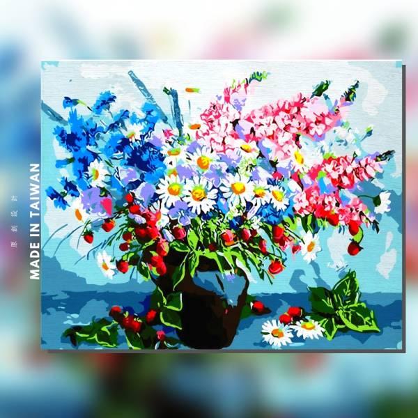 花語寄情 |MANTO創意數字油畫(4050M) 花卉,花田,數字油畫,manto,台灣數字油畫,數字油畫批發,數字油畫團購