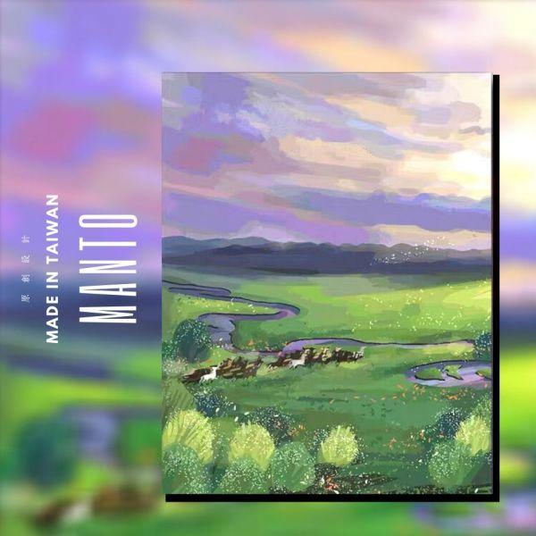 呼倫貝爾大草原|MANTO創意數字油畫(4050M) 呼倫貝爾,風景畫,數字油畫,manto,數字畫