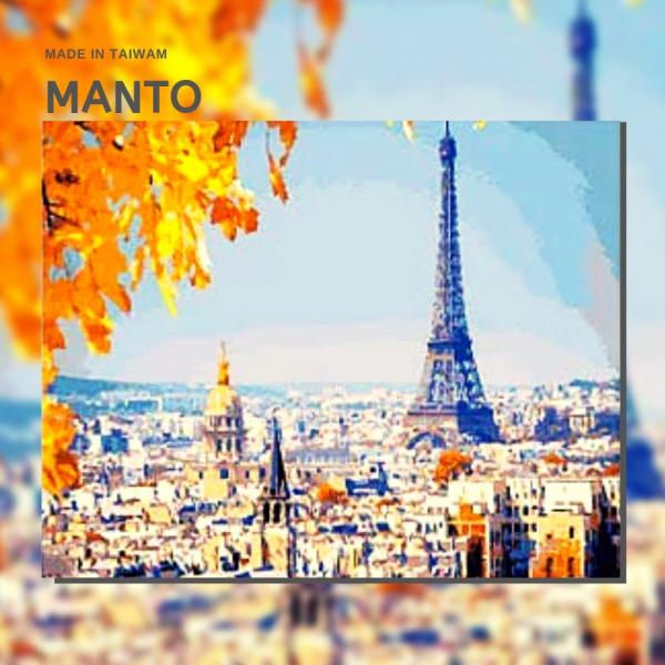 楓葉艾菲爾|MANTO創意數字油畫(4050M) 楓葉艾菲爾,風景畫,數字油畫,manto,台灣數字油畫,數字油畫批發,倫敦