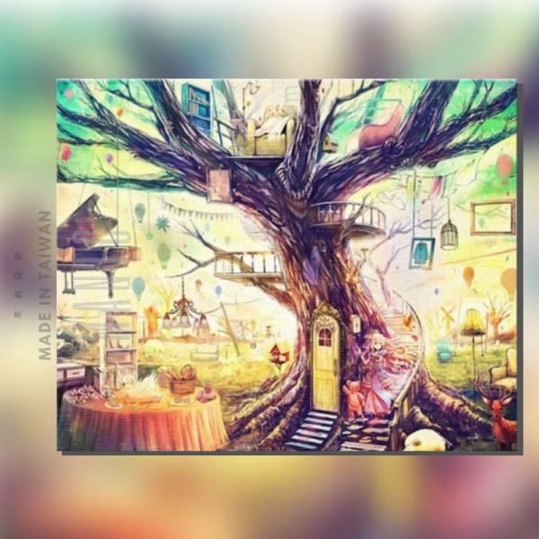 樹樂集|MANTO創意數字油畫(4050) 北歐風,裝飾畫,樹,數字油畫,manto,台灣數字油畫,數字油畫批發,數字油畫團購