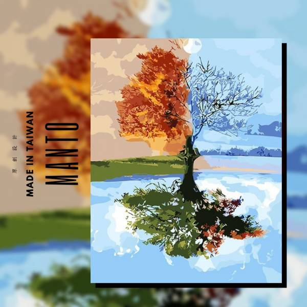 四季樹|MANTO創意數字油畫(4050M) 四季樹,風景畫,數字油畫,manto,數字畫