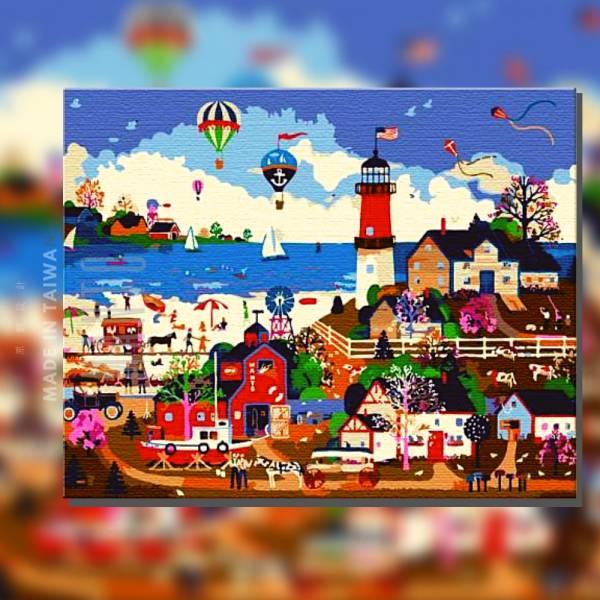 美爾福燈塔樂園|MANTO創意數字油畫(4050) 童話,塔,樂園,數字油畫,manto,台灣數字油畫,數字油畫批發,數字油畫團購