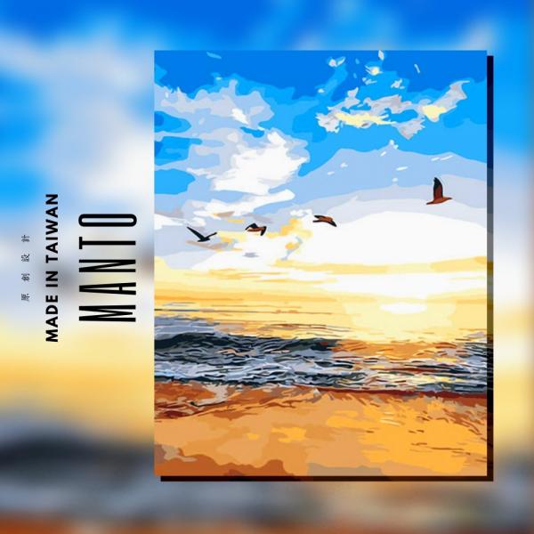 水漾天色|MANTO創意數字油畫(4050M) 水漾天色,風景畫,數字油畫,manto,台灣數字油畫,數字油畫批發,倫敦