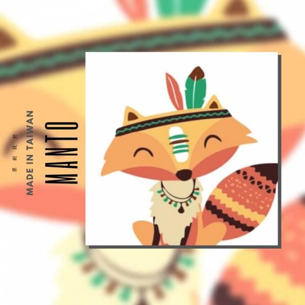 部落狐狸|MANTO創意數字油畫(2020) 狐狸,旅行,數字油畫,manto,台灣數字油畫,數字油畫批發,數字油畫團購