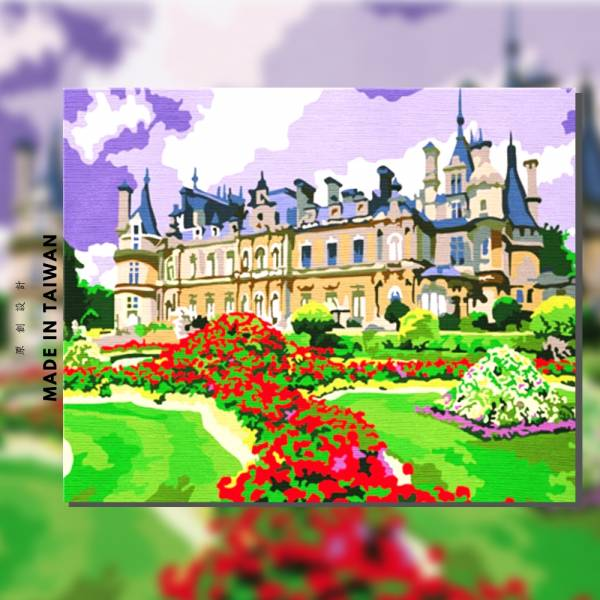 法國香波堡|MANTO創意數字油畫(4050M) 香波堡,風景畫,法國,數字油畫,manto,台灣數字油畫,數字油畫批發,數字油畫團購
