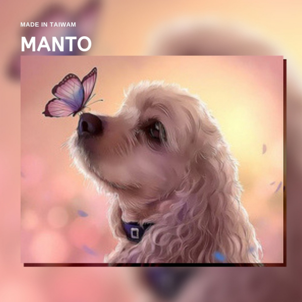 蝶舞多卡|MANTO創意數字油畫(4050M) 多卡,狗,數字油畫,manto,台灣數字油畫,數字油畫批發,倫敦
