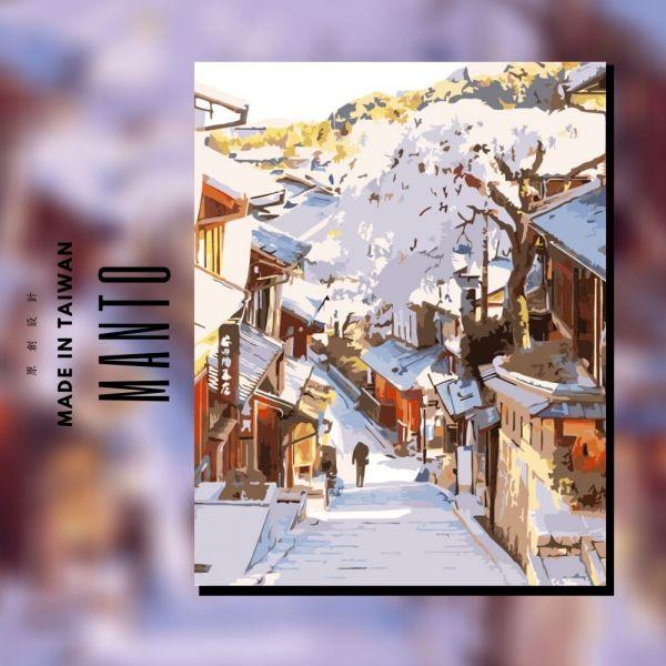 京都花見小路 MANTO創意數字油畫(4050M) 京都,風景畫,數字油畫,manto,數字畫