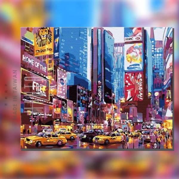 紐約漫步【現貨】|MANTO創意數字油畫(4050) 美國,風景畫,紐約,數字油畫,manto,台灣數字油畫,數字油畫批發,數字油畫團購