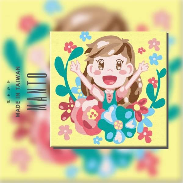 勇氣女孩-Ring Ring 聯名款【現貨】|MANTO創意數字油畫(2020) Ring Ring,插家家,數字油畫,manto,台灣數字油畫,數字油畫批發,數字油畫團購