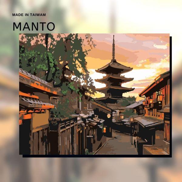 京都夕照|MANTO創意數字油畫(4050) 京都,風景畫,數字油畫,manto,數字畫