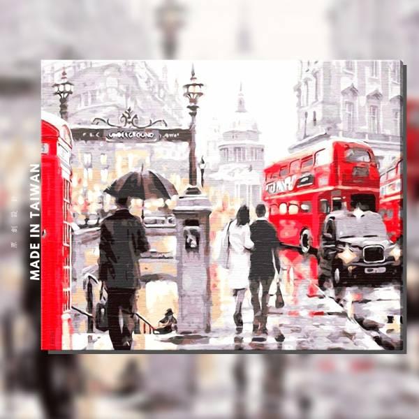 情愛倫敦城 |MANTO創意數字油畫(4050M) 風景畫,花田,數字油畫,manto,台灣數字油畫,數字油畫批發,數字油畫團購