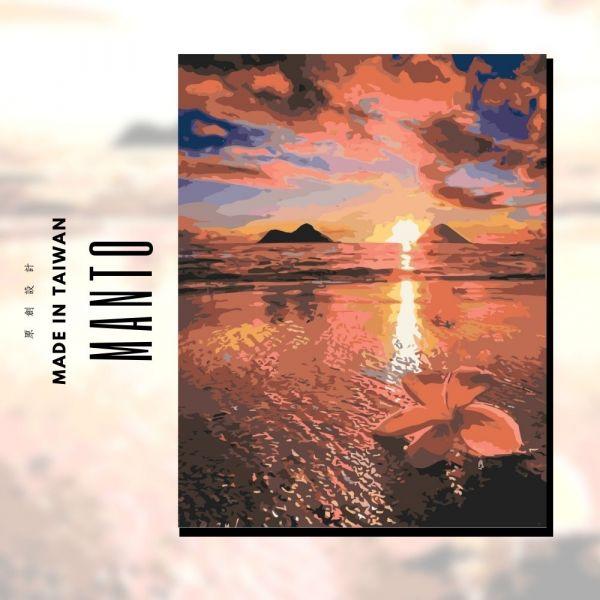 夏威夷夕彩|MANTO創意數字油畫(4050) 夏威夷,風景畫,數字油畫,manto,數字畫