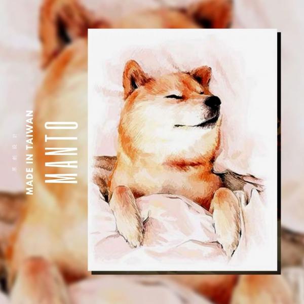 盹盹柴柴【現貨】|MANTO創意數字油畫(4050M) 柴柴,柴犬,數字油畫,manto,台灣數字油畫,數字油畫批發,倫敦