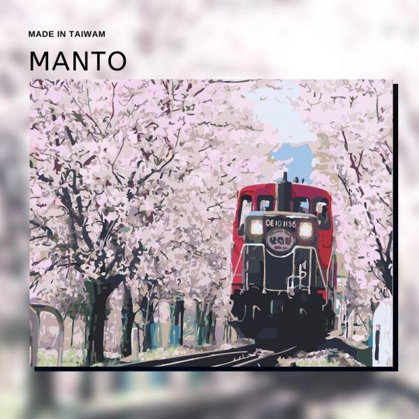 嵐山戀櫻【現貨】|MANTO創意數字油畫(4050M) 嵐山小火車,風景畫,數字油畫,manto,數字畫