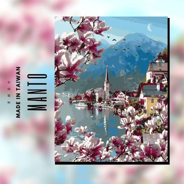 哈修塔特|MANTO創意數字油畫(4050) 哈修塔特,風景畫,數字油畫,manto,數字畫