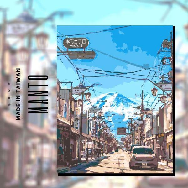 富士山街景|MANTO創意數字油畫(4050M) 富士山,風景畫,數字油畫,manto,數字畫