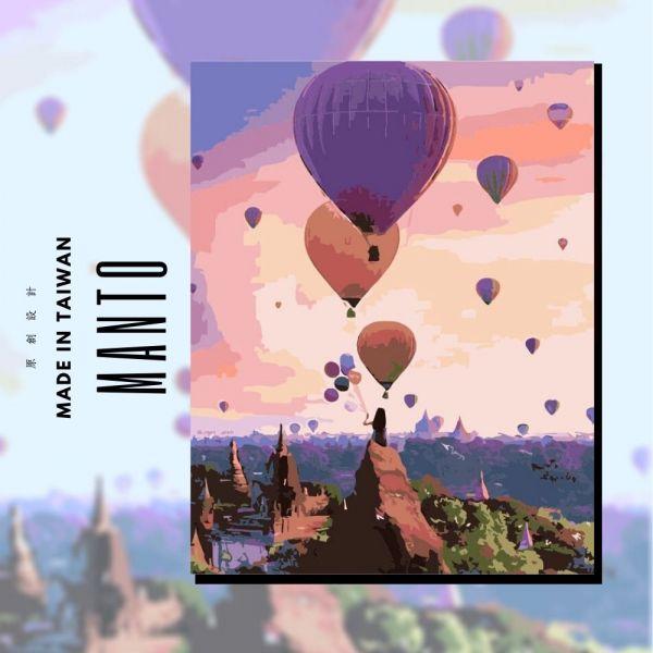 卡帕多奇亞熱氣球【現貨】|MANTO創意數字油畫(4050M) 卡帕多奇亞熱氣球,風景畫,數字油畫,manto,數字畫