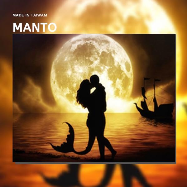 月光美人魚|MANTO創意數字油畫(4050M) 月光美人魚,北歐風畫,數字油畫,manto,台灣數字油畫,數字油畫批發,倫敦
